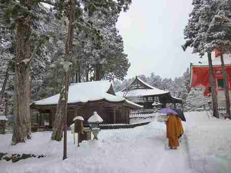 冬の高野山