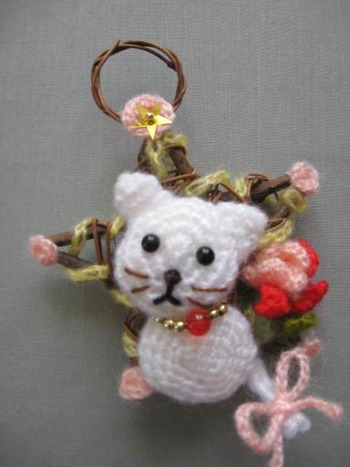 オリジナル 猫クリスマスリース