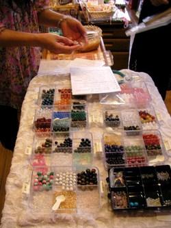 天然石ブレス作り