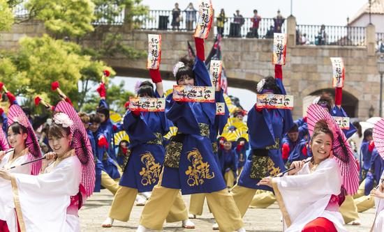 【告知】ナツメキコラボ大旗@YOSAKOIさせぼ祭り