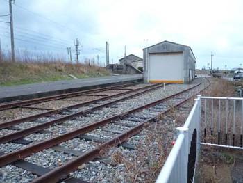 北陸線美川駅