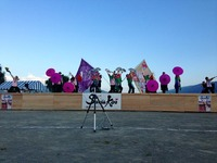 ナツメキコラボ大旗@諏訪湖YOSAKOI