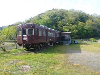 丹波のお山の阪急電車