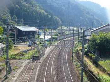 北陸線今庄駅