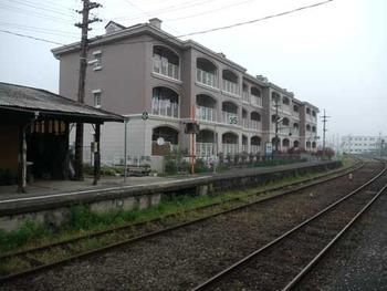 姫新線美作江見駅
