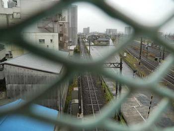 関西線桑名駅 砂利