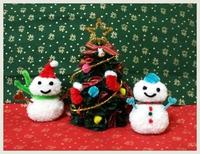 クリスマスのモールアート体験します。盛りたくさんだよ♬