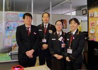 ピンクリボン着用週間参加 富田郵便局の皆さま