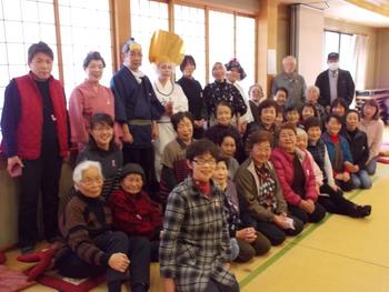 庄川婦人会の皆様とたけのこ劇団の皆さま