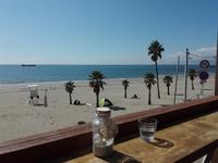 行ってきました、海辺のカフェ