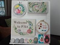 手刺繍の作品