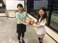 お祝いのお花をもらいました!!