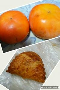 柿とアップルパイ