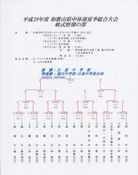 平成29年度 和歌山県中体連夏季総合体育大会(軟式野球の部)・全結果