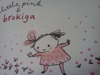 little pink & brokiga