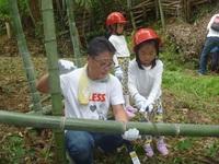 竹林伐採と流しソーメン