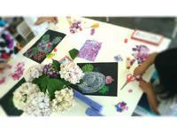 紫陽花♡お絵かき教室