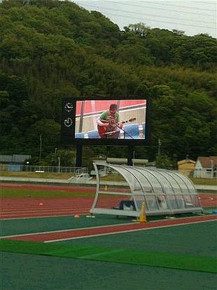 競技場でKIZUNA