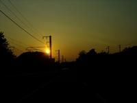 【夕日】今日も暖かかったね