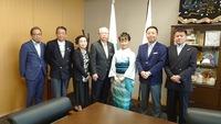 海南の神出市長さん、川崎議長さんを表敬訪問させて頂きました。