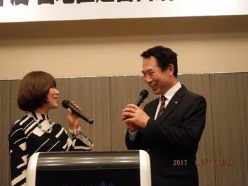 宮地区連合自治会新年親睦会にて