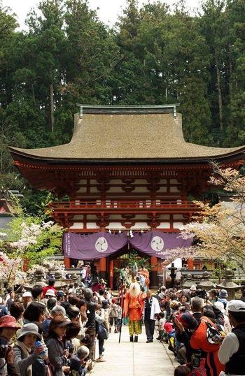 明日は丹生都比売神社さんの花盛祭です
