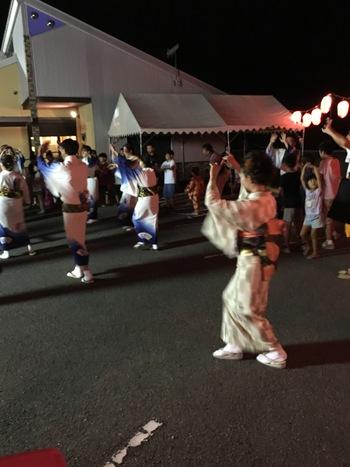 桃山町元地区夏祭りにて