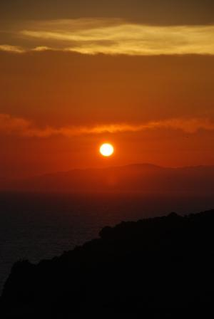 雑賀崎の夕日