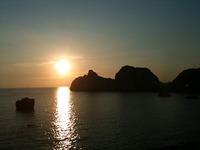 白崎海岸~広川ビーチ駅付近の夕日(2010年8月18日撮影)
