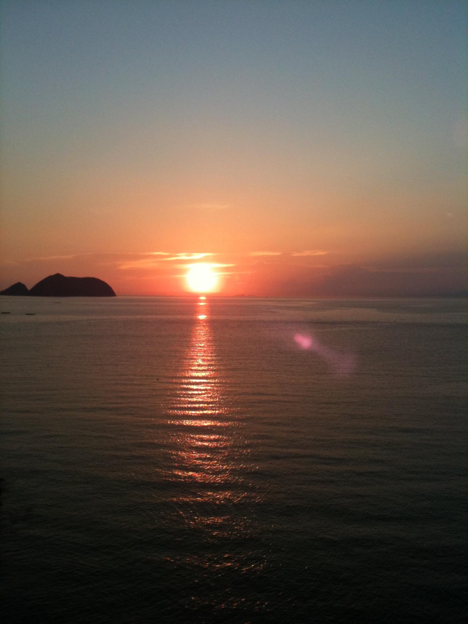 白崎海岸~広川ビーチ駅付近の夕日