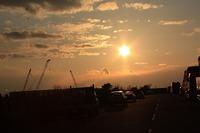 昨日の和歌山港の夕日