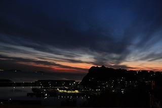 夕焼け~~雲が面白い(*^_^*)