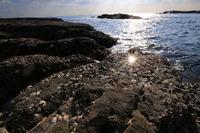 志原海岸の夕日