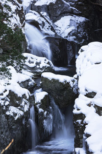 雪のみたらい渓谷