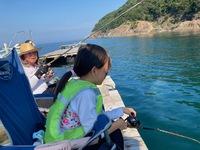 7月31日・・・ひ孫ちゃんと初の筏釣り