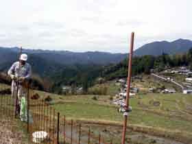3月16日の電気柵設置作業