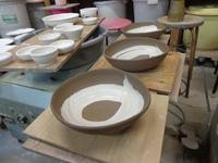 陶芸のお皿をつくりました!