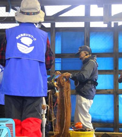 市江漁港で漁師さんのお話