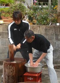あらぎ島展望台のある三田地区で大餅投げがあります!