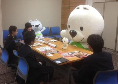 平成29年2月17日和歌山大学附属中学生がきいちゃんを突撃取材