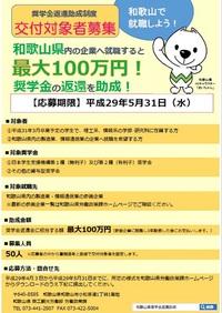 和歌山県内の企業へ就職すると最大100万円!奨学金の返還を助成します!