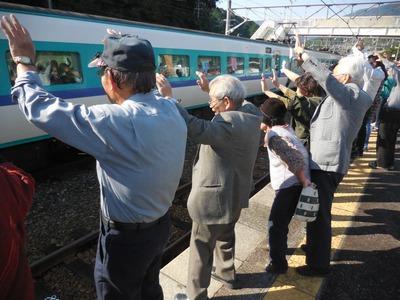 無人駅の紀伊日置駅に臨時特急列車が到着!その訳は…(白浜町日置川地域)