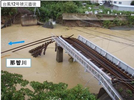 那智川のJR鉄道橋架替完了。12月14日より供用開始。【那智勝浦町】