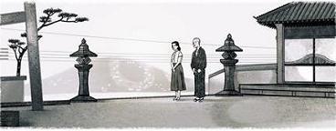 小津安二郎の代表作『東京物語』のワンシーン