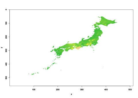 ある日の土壌雨量指数