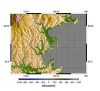 GMT5.3.1で陰影図や鳥瞰図を作る
