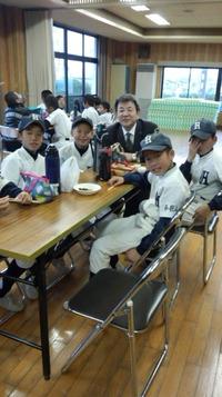 八幡台少年野球クラブ年始の初練習にお招き頂きました。