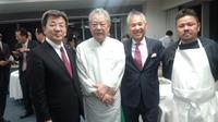 手島純也氏料理マスターズブロンズ賞受賞記念祝賀会に出席。