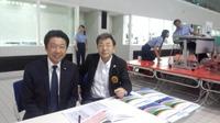 昨日に続き、秋葉山選手権水泳競技大会の会場に向かいました。