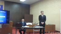 武雄市議会議場において調査が始まりました。